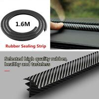 Carbon Fiber Car Dashboard Gap Filling Sealing Strip Rubber Universal Trim 1.6M