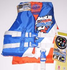 Maui and Sons 30-50 lbs Child's Life Vest w/Adjustable Straps Brand New