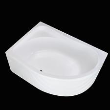 Bath Tub Corner Left Side Offset Acrylic Panel Legs Bathroom Shower 1500x1000 mm