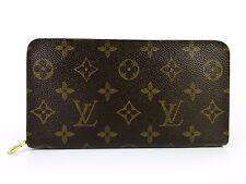 Auth Louis Vuitton Monogram Porte Monnaie Zip M61727 Zip Long Wallet Great 39686