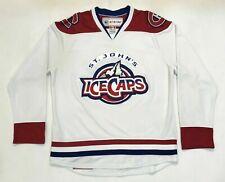 Vintage CCM Maska AHL St.John's IceCaps Hockey Jersey Adult M White Canada Sewn