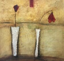 "Original ""Two Vases"" Wax Encaustic by Sophie RH in Custom Frame"