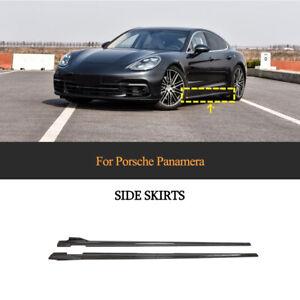 Carbon Seitenschweller Side Skirts Spoiler Passt für Porsche Panamera 971 17-21