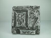Türgriff Stoßplatte Eingangstür Stoßgriff ca.15,3x15,3cm Brutalo Design 70s 80s