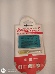 Tomee M03934 Rechargeable Battery Pack For Nintendo Game Boy Advance