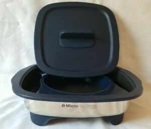 TUPPERWARE MicroPro Grill Stainless Microwave Safe Pro Series With Lid/ring