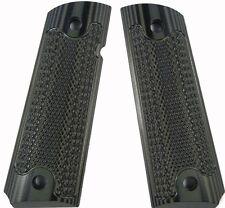 Custom 1911 Grips G10 Magwell Ambi Bobtail Colt Classic Checkered  - ODGrn-Black