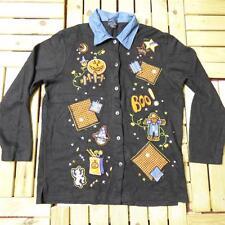 Vintage Novelty Retro HALLOWEEN Jumper Sweater Fancy Dress Bad Taste Small A0838