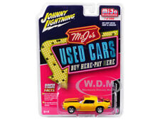 1977 CHEVROLET CAMARO USED CARS YELLOW 1/64 DIECAST BY JOHNNY LIGHTNING JLCP7084