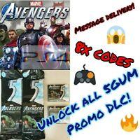 Marvel's Avengers 5Gum Promo DLC = 8 Codes! UNLOCK ALL PROMO DLC  PS4 Redeem