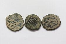 ANATOLIAN BEYLIKS SARUHAN BEYLIK  KHIRZ BEG AH792 AE MANGIR VERY RARE 3 COINS B2