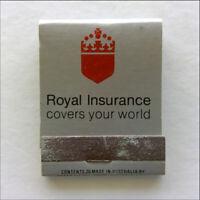 Royal Insurance Familyshield Flexicover Incinerator Silver Matchbook (MK68)
