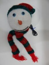 Avon Fiber Optic Christmas Snowman Face No AC Adapter Color Changing
