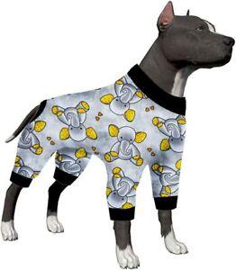 LovinPet pit bull pajamas/Sleepytime Elephants Prints/Lightweight Pullover