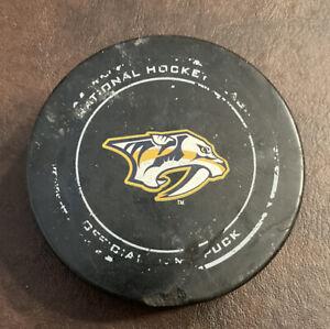 Nashville Predators 2016/17 Game Used Sherwood Puck