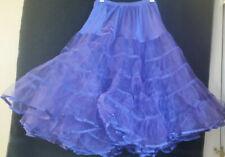 ROCKABILY PURPLE  Knee Length Net SWING Petticoat MED/LARGE