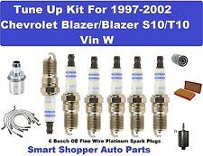 Spark Plug, Wire Set, Filter For 97-02 Chevrolet Blazer/Blazer S10/T10 Tune Up