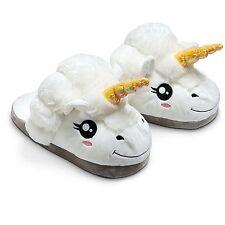 Fantasy White Unicorn Slippers Adult Winter Plush Soft Indoor Slippers UK Seller