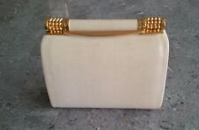 Rodo Clutch Purse Handbag Color Cream Snake Embossed