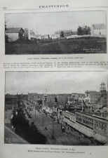 Antique 1914 Jasper Avenue Edmonton Alberta Street View Print Photo