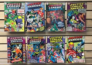 JUSTICE LEAGUE of AMERICA #'s 42 to #50 comics from 1966...$150 Value....$19.95!