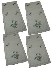Pack 4 Scottish Thistle Chair Backs Covers Protectors Seat Antimacassar C834