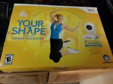 Wii Your Shape Motion Tracking Camera Jenny McCarthy Ubisoft - comes with Box!