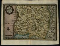 Southern Lorraine France ca.1670 charming rare old miniature antique map
