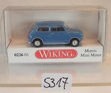 Wiking 1/87 Nr. 0226 01 Morris Mini Minor blau OVP #5317