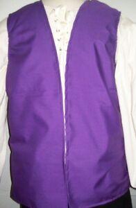 New Handmade Renaissance / Pirate Boy's Vest Size 3/4 Various Colors
