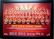 2012 GOLD COAST SUNS AFL official posters framed