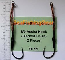 8/0 assist hooks, butterfly jigs, pirks, rippers, pilk