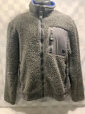 ABERCROMBIE & FITCH Handcrafted Heavy Gray Blue Jacket Size L