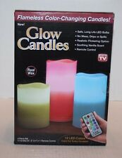 NIB Glow Candles Flameless Color-Changing Candles 12 LED Colors Ships FREE MTR