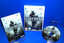 Set Nintendo Wii- CALL OF DUTY modern warfare good condition Wii