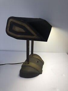 Vintage Faries Mfg. Art Deco Metal Brass Desk Lamp With Original GE Bulb - Works