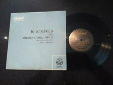 """JO STAFFORD SINGS AMERICAN FOLK SONGS RARE CAPITOL UK 10"""" LP PAUL WESTON"""