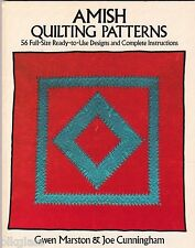 Amish Quilting Patterns 56 Full-Size Designs Instruct Marston Cunningham Quilt