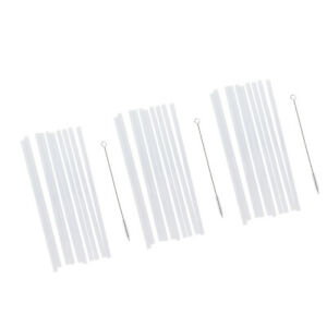 30x Reusable Hard Drinking Straws +3x Cleaning Brush Wedding Kids Party Gift