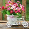 Rattan Blume Tricycle Fahrradkorb Handgemachte Blumenvase Speicher Weiß Hochzeit