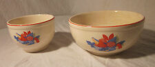 Univeral Cambridge Ovenproof CALICO FRUIT NESTING/MIXING BOWL PAIR USA 5 & 7.25""