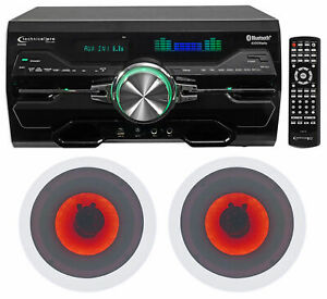 """Technical Pro DV4000 4000w Home Theater DVD Receiver+6.5"""" LED Ceiling Speakers"""