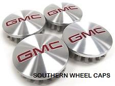 4X Brand NEW GMC Yukon Yukon XL Sierra 1500 Brushed Wheel Center Hub Caps 14-17
