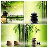 Nature Modern Peaceful Bamboo Set of 4 12x12 Canvas Print Wall Art Decor Pieces
