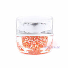 Snowflake Orange 8ml UV Builder Glitter Powder Gel Nail Art Acrylic Polish