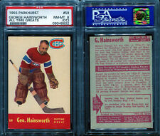 1955 PARKHURST #59 GEORGE HAINSWORTH ALL TIME OLD TIME GREATS PSA 8 OC (8602)