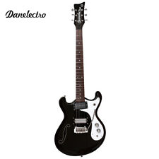 NEW Danelectro '66T Semi Hollow Classic Electric Guitar Black with Whammy Bar