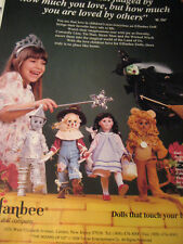Effanbee Wizard of Oz Doll Ad ADVERTISEMENT Only