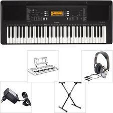 Yamaha PSR E363 Keyboard SET mit X-Stativ + Kopfhörer + Notenpult + Netzgerät