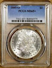 1885-O PCGS MS65+ Morgan Dollar - 100% White